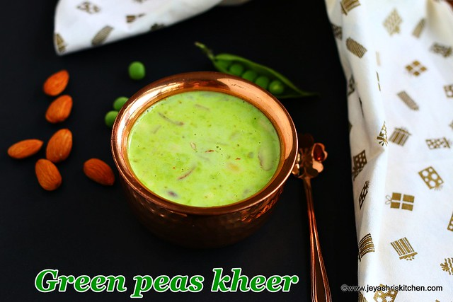 Green peas-kheer