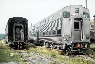 Looking Around the CB&Q Aurora, Illinois Coach Yard, September 8, 1964 -- 4 Photos