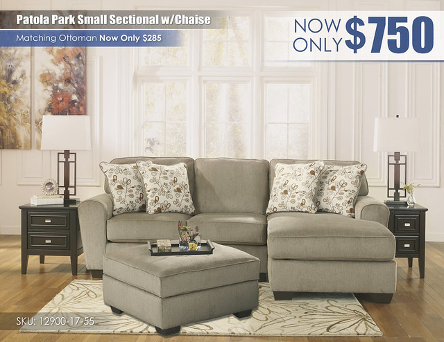 Patola Park Small Sect wChaise12900-17-55