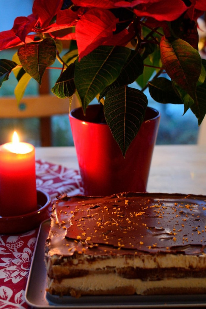 Chocolate Tiramisu with Clementine zest