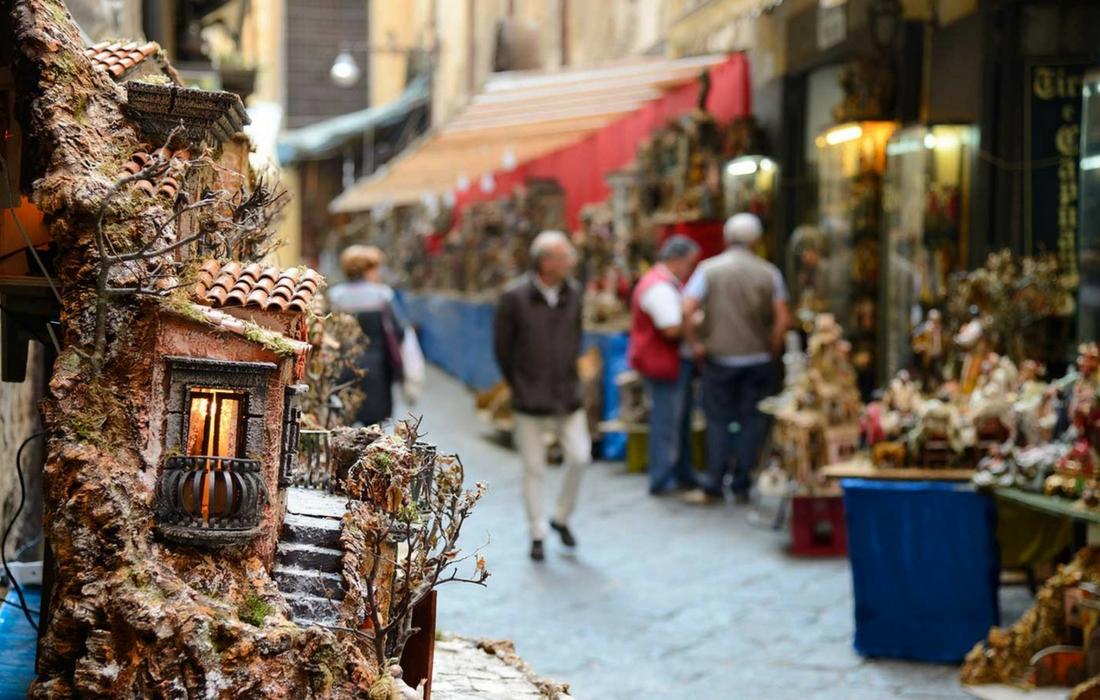 Presépios artesanais na Itália