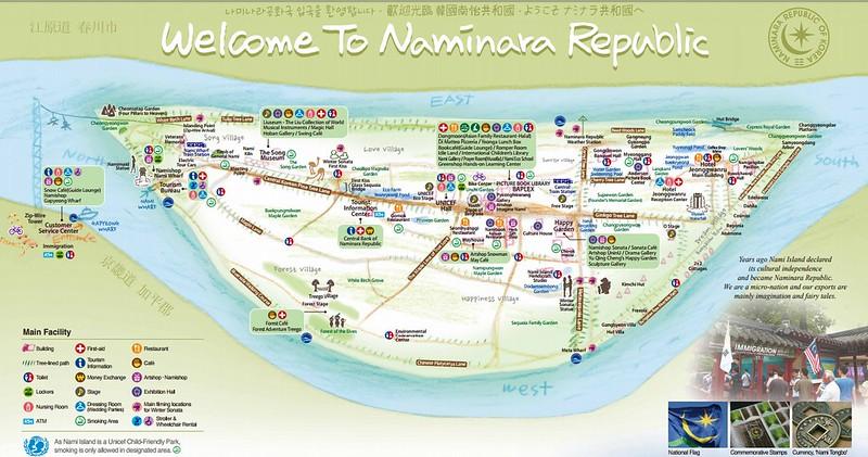 Nami Island - Naminara Map
