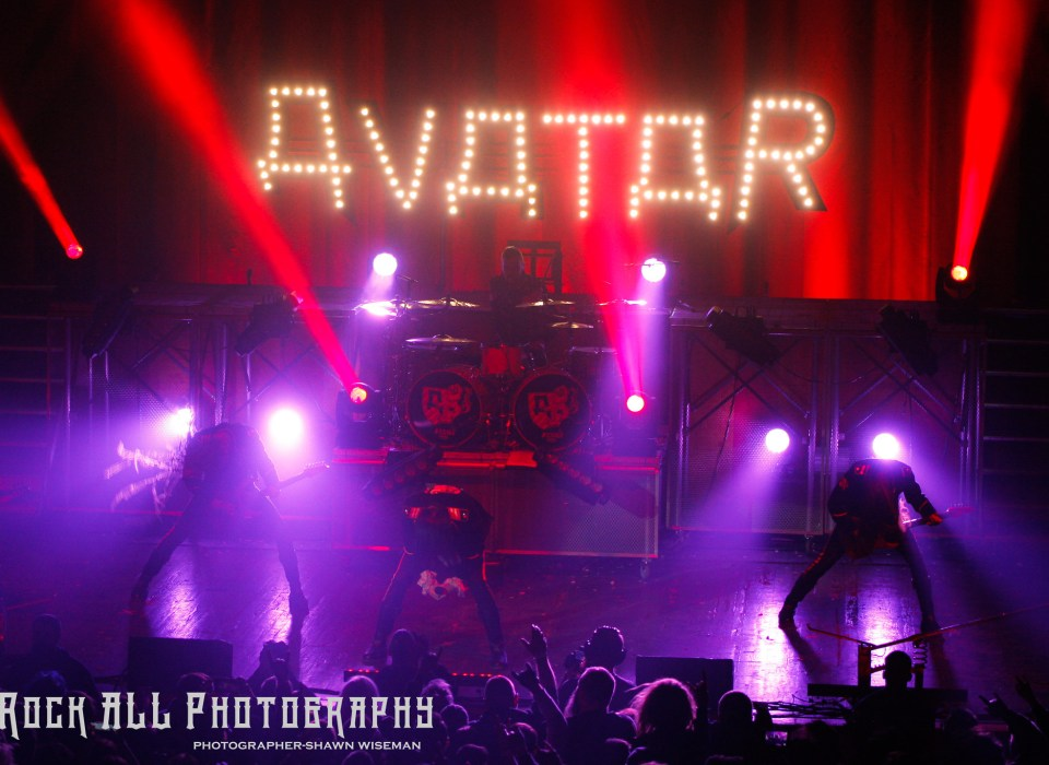 Avatar at Express Live in Columbus, Ohio 1/6/18