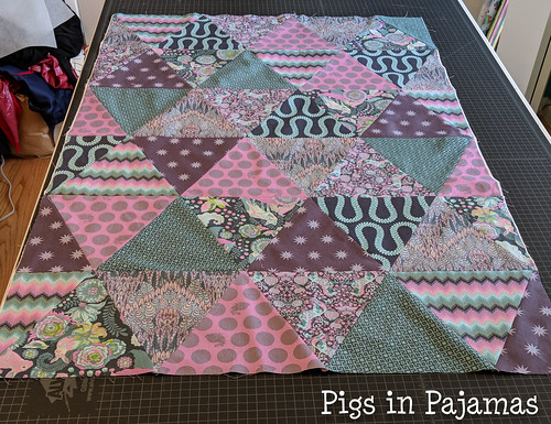 Tula Pink Triangles quilt