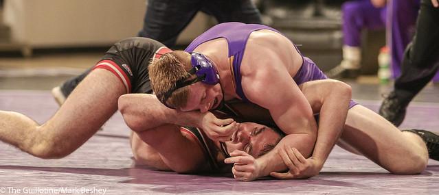 197: #9 Matt Blome (MSU) Dec. over #6 Vince Dietz (SCS) 5-1 | MSU 13-9 SCS - 180203amk0202