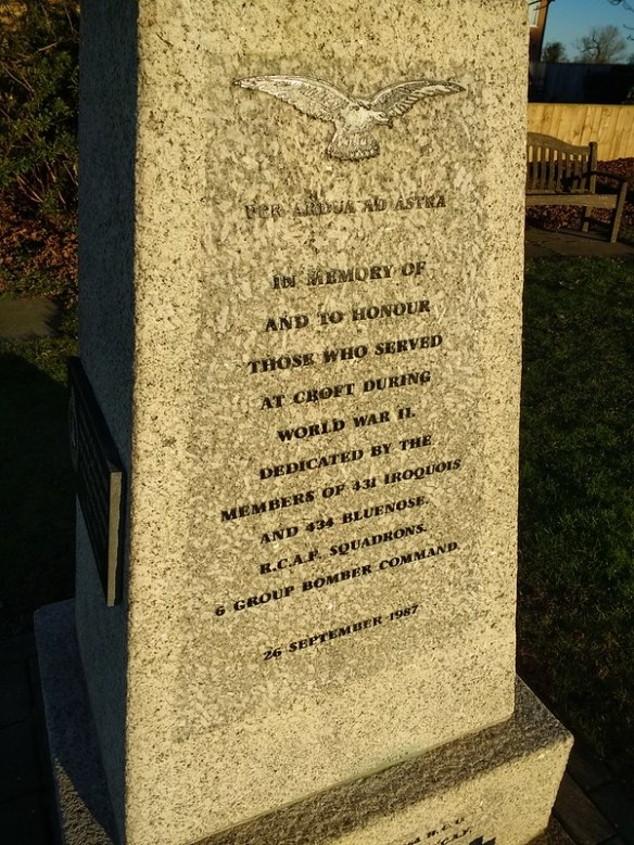 Croft Airman Memorial, Dalton-on-Tees