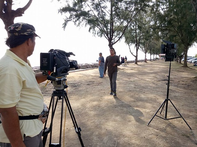 Hos Taufiq Hanafi di lokasi penggambaran