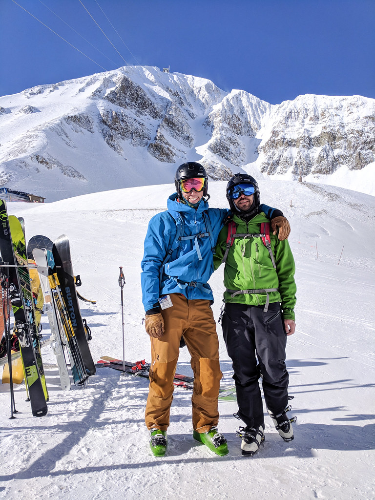 After skiing the Big Couloir at Big Sky Resort
