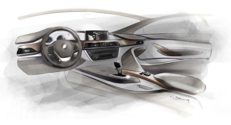 BMW F30 interior rendering by Christian Bauer