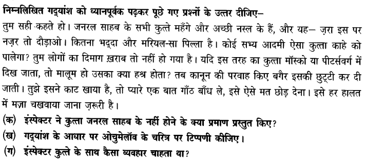 Chapter Wise Important Questions CBSE Class 10 Hindi B - गिरगिट 14