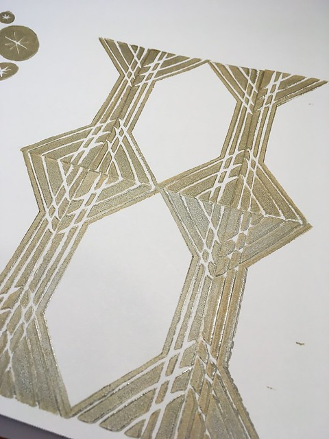 Work in progress: block printing experiments