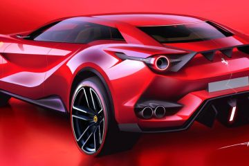 Speculative Ferrari SUV rendering by Artem Neretin