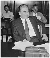CIO chief John L. Lewis cracks a rare smile: 1937