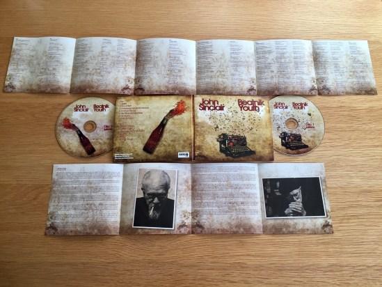John Sinclair - Beatnik Youth CD reverse of booklets
