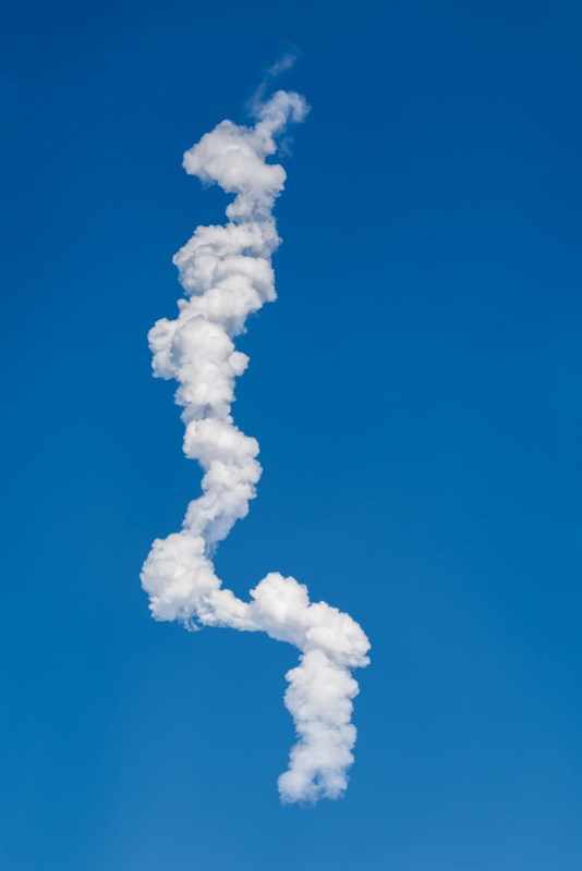 SpaceX Falcon Heavy first launch - vapor trail