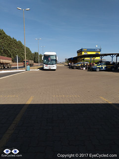 Our bus was stopped by the Federal Highway Police at the station near the city of Uberaba in the state of Minas Gerais.