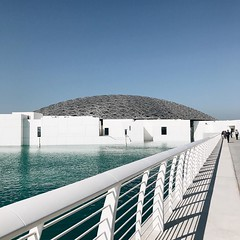 Closed today, but still Very Nice #architecture from the outside #louvre @visitabudhabi #inabudhabi #wanderlust #abudhabi #travel #guardiantravelsnaps #travelgram #travelphotography #vsco #vscocam #blue #winter #sky #museum