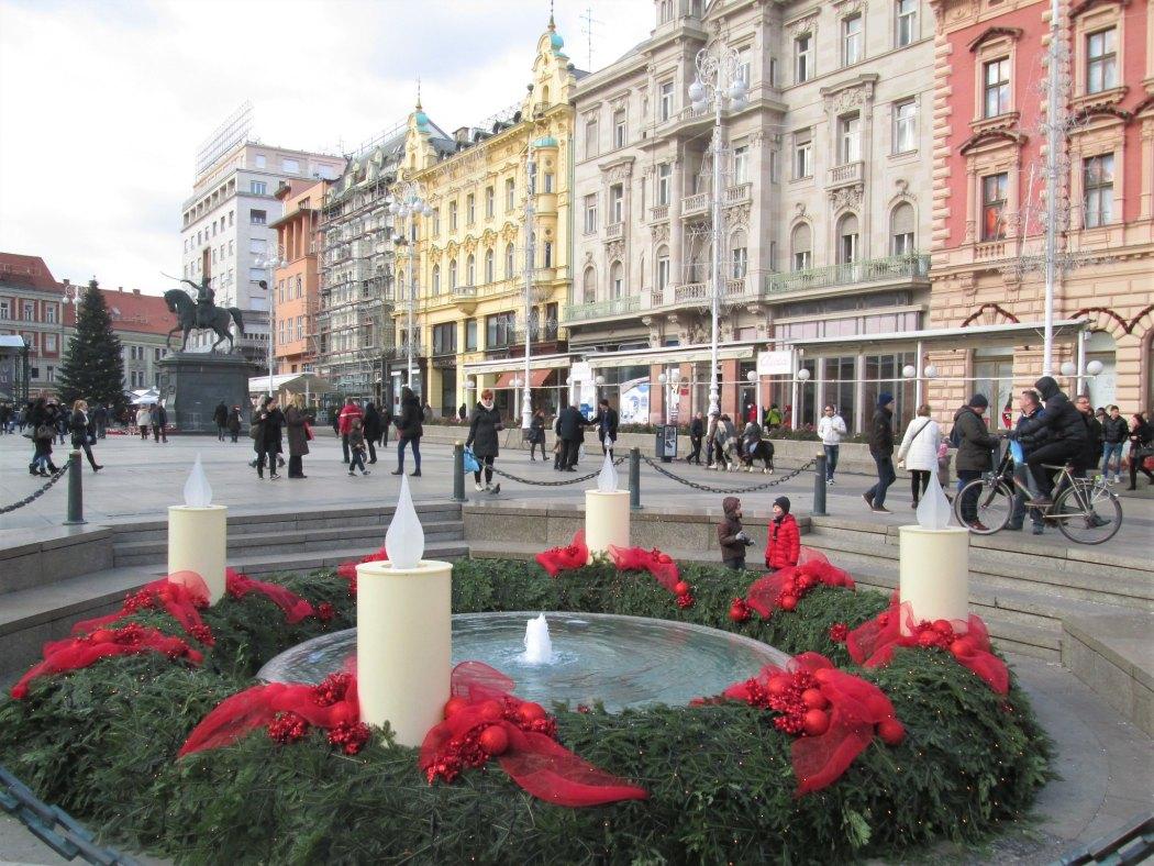 Advent in Ban Jelačić Square, Zagreb