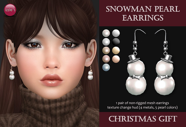 Snowman Pearl Earrings (Christmas Gift)