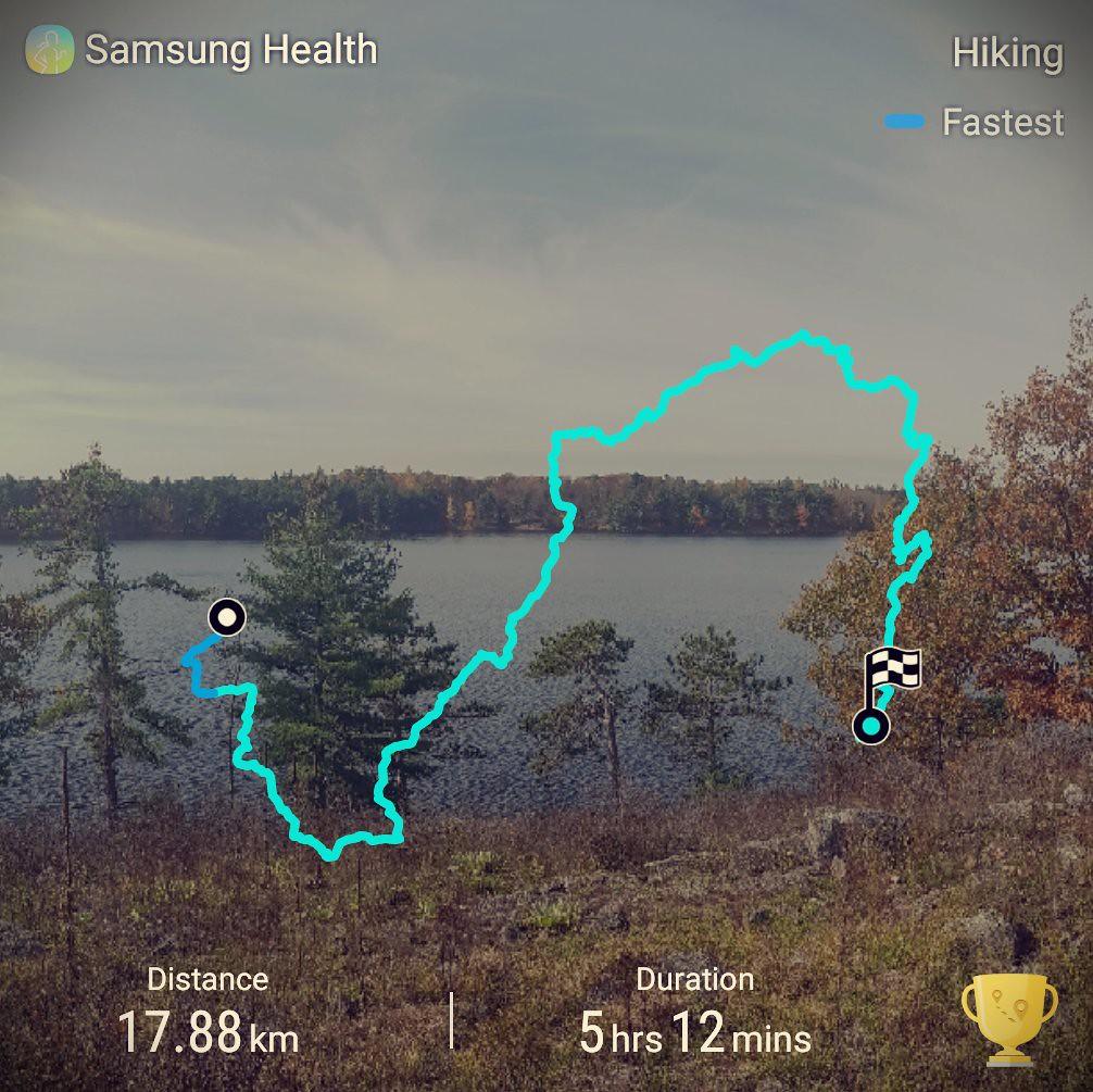 Frontenac Provincial Park Day 1 route