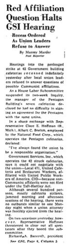 Washington Post reports on Local 471 officials' testimony: 1948
