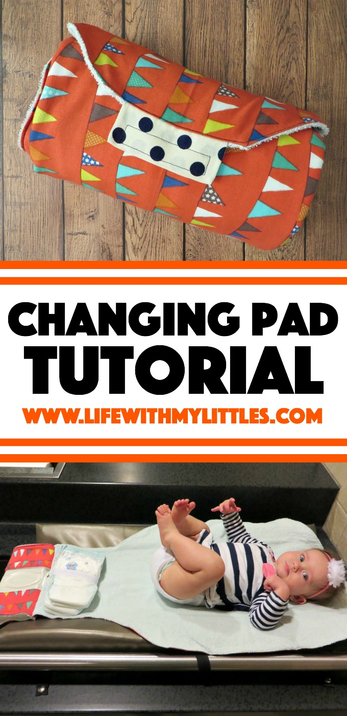 Sew your own changing pad with built-in diaper and wipes holders. A simple tutorial with lots of pictures, perfect for baby shower gifts!