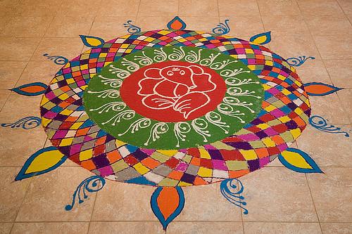 Diwali Rangoli Diya Design