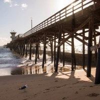 Huntington Beach and Seal Beach Piers
