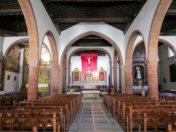 Interior de la iglesia en San Sebastián de La Gomera