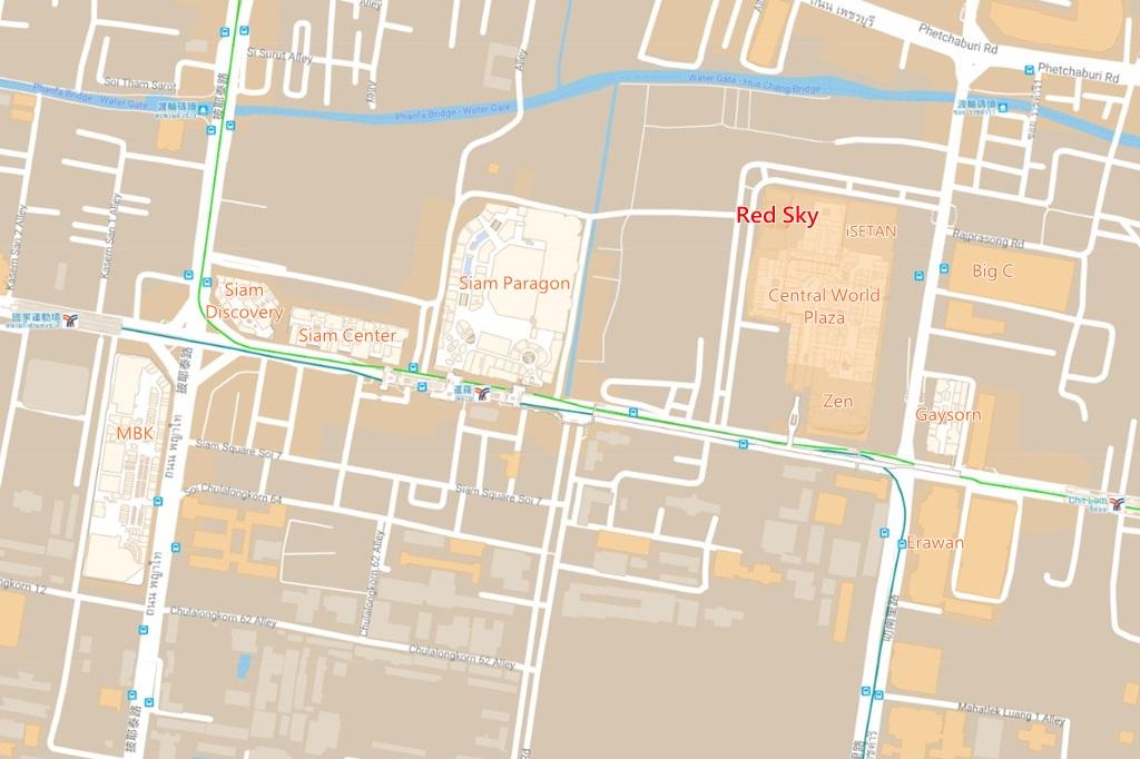 Red Sky Bar Map