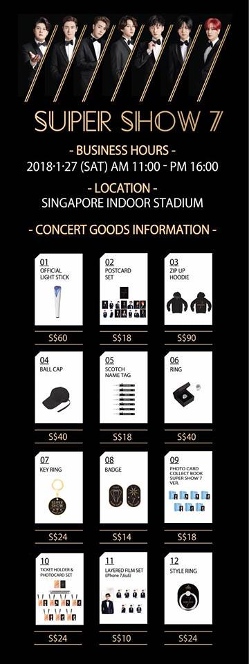 Super Show 7 in Singapore Merch
