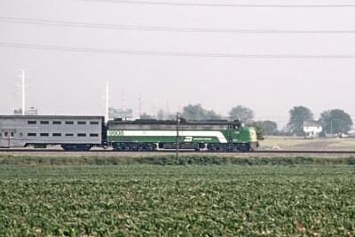 CB&Q 9976 Served 3 Railroads -- 4 Photos