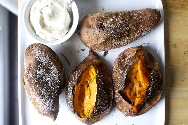 slow-roasted sweet potatoes