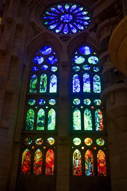 Stained Glass Windows of La Sagrada Familia