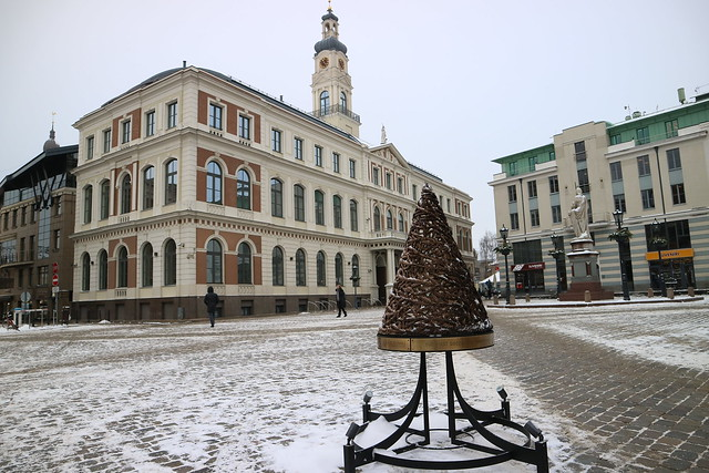 Eerste publieke kerstboom Riga