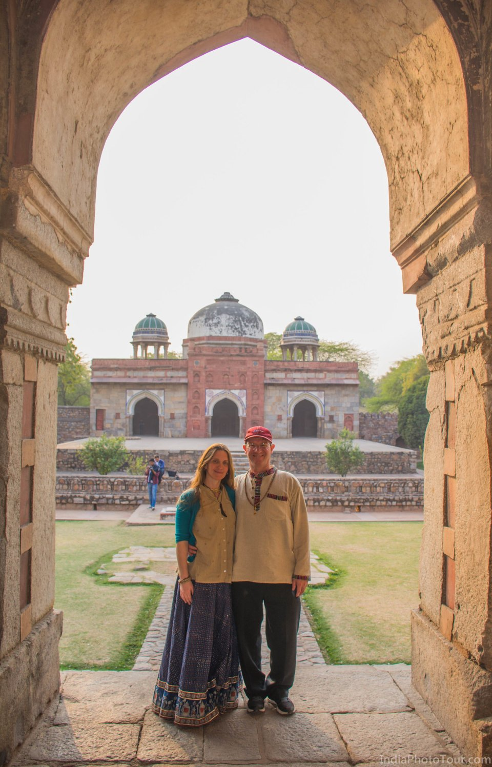 Starting at Isa Khan's tomb in Humayun's Tomb complex