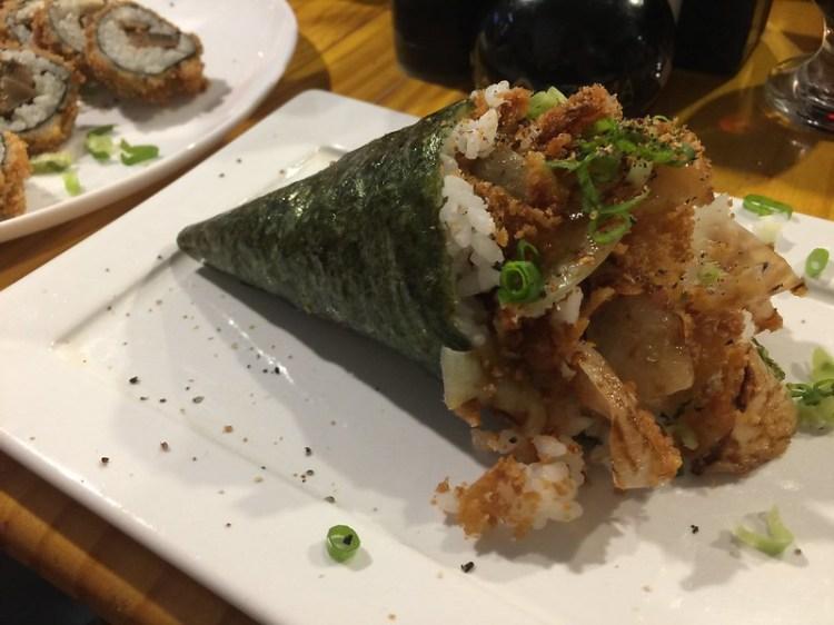 Opções veganas no Yuu Sushi Cave