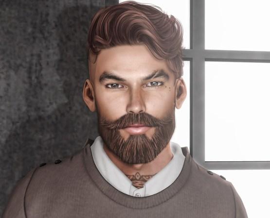 Magnificent GA.EG Bento Mesh Hipster Stache & Beard