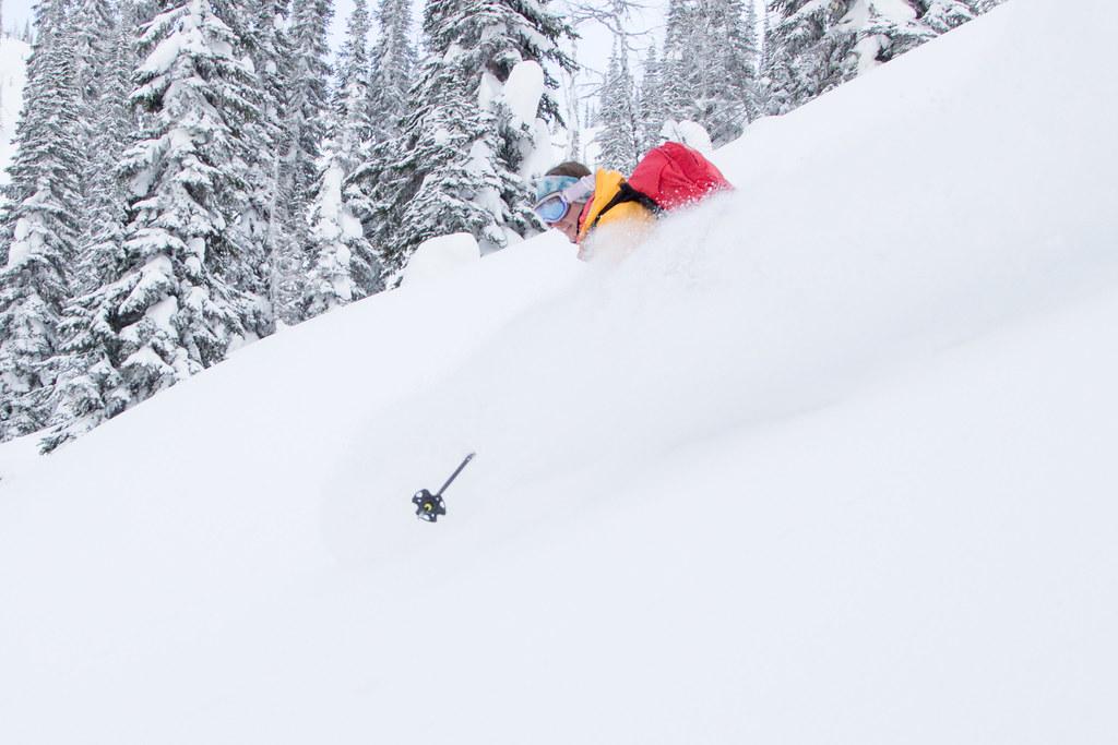 Ymir backcountry skiing near Wildhorse Pass