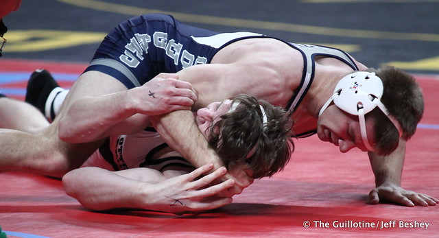 182 - Caden Steffen (Zumbrota-Mazeppa) over Kevin Tierney (Ottertail Central) Fall 4:35. 180301AJF0121