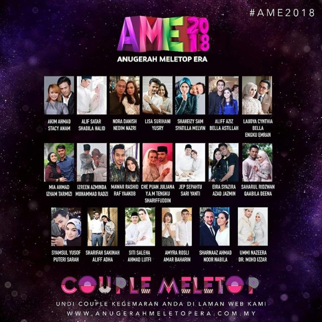 COUPLE MELETOP di Anugerah MeleTOP 2018