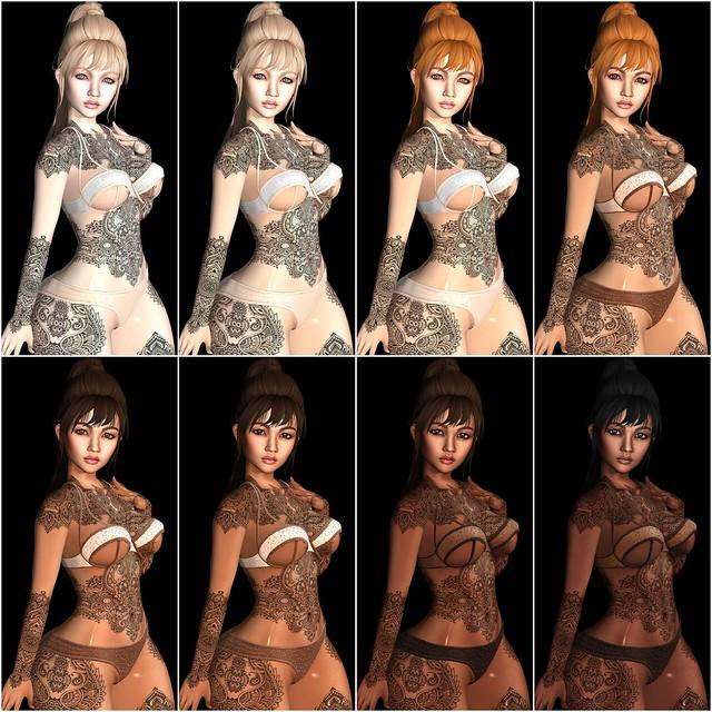 Modish Cora (Catwa) Skin_tones