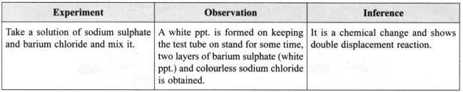 NCERT Class 9 Science Lab Manual - Types of Reactions and