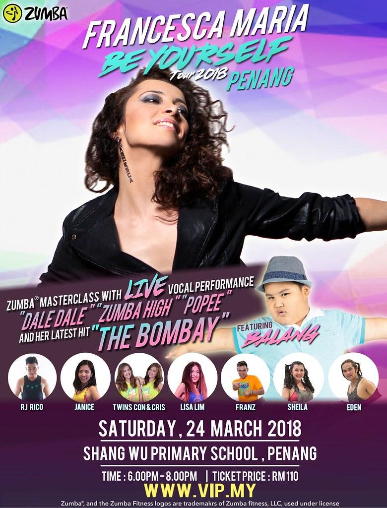 FRANCESCA MARIA, BE YOURSELF TOUR 2O18 DI MALAYSIA