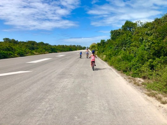 bike ride on castaway cay