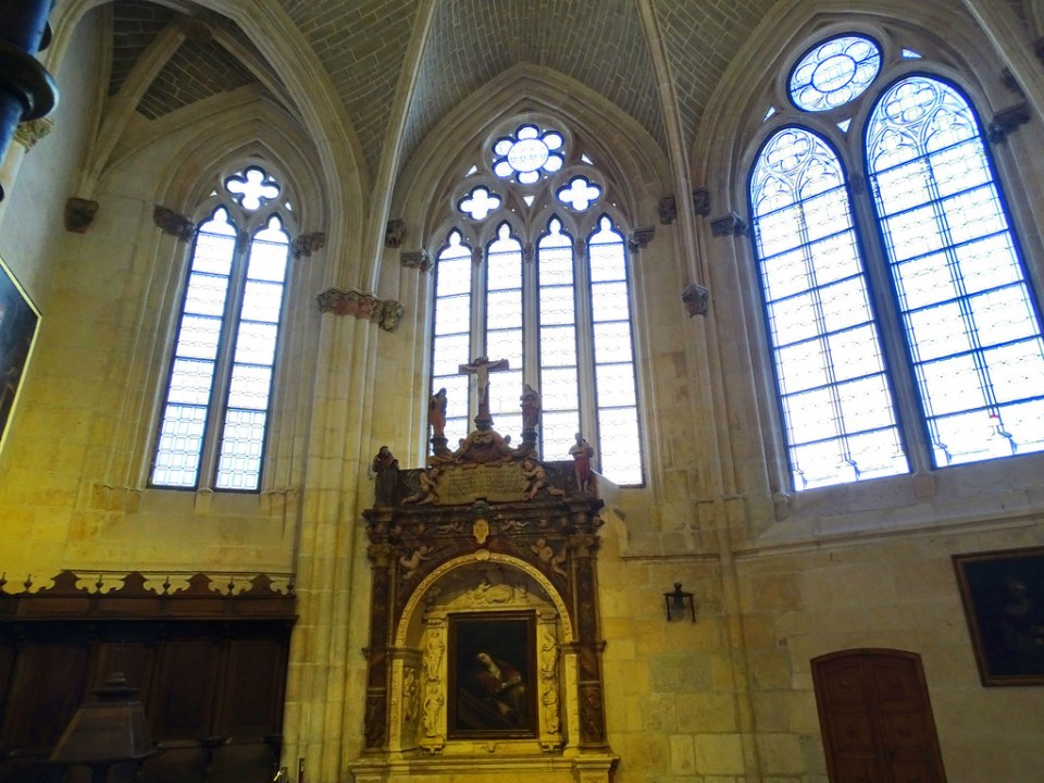 Catedral de Burgos Capilla de la Anunciacion Coro y arco funerario altar retablo pintura Maria Magdalena Capilla de La Anunciacion o San Antonio Abad