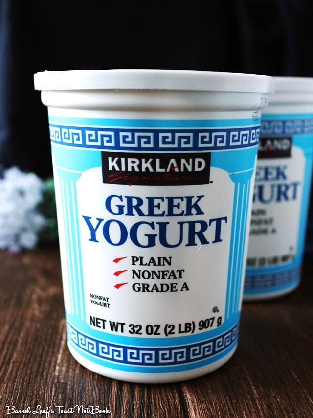 【Costco 好市多】Kirkland 零脂希臘式優格 無敵濃郁 終於一嚐心願 Nonfat Greek Yogurt     Barrel Leaf 桶子葉的吐司記
