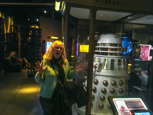 Laura with Dalek