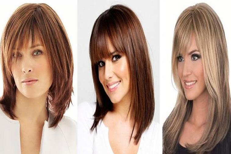 Bangs Hairstyles 2018-2019 – Medium hair 2018
