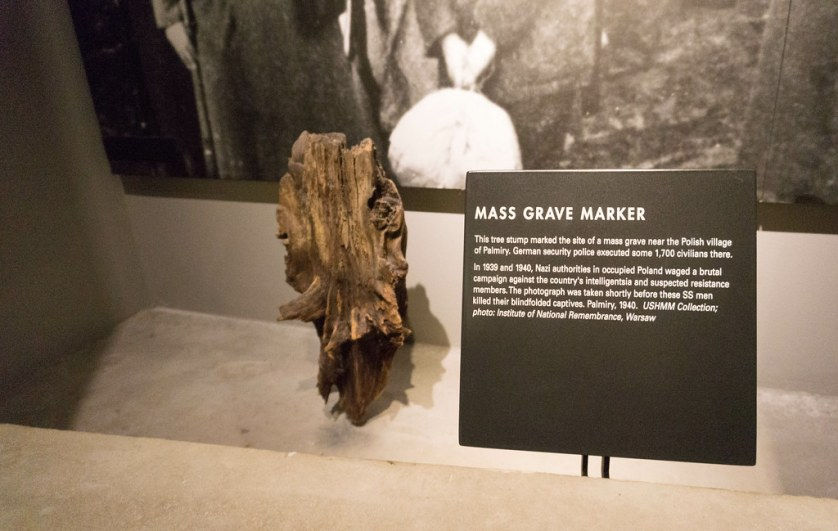 Mass Grave Marker at the United States Holocaust Memorial Museum